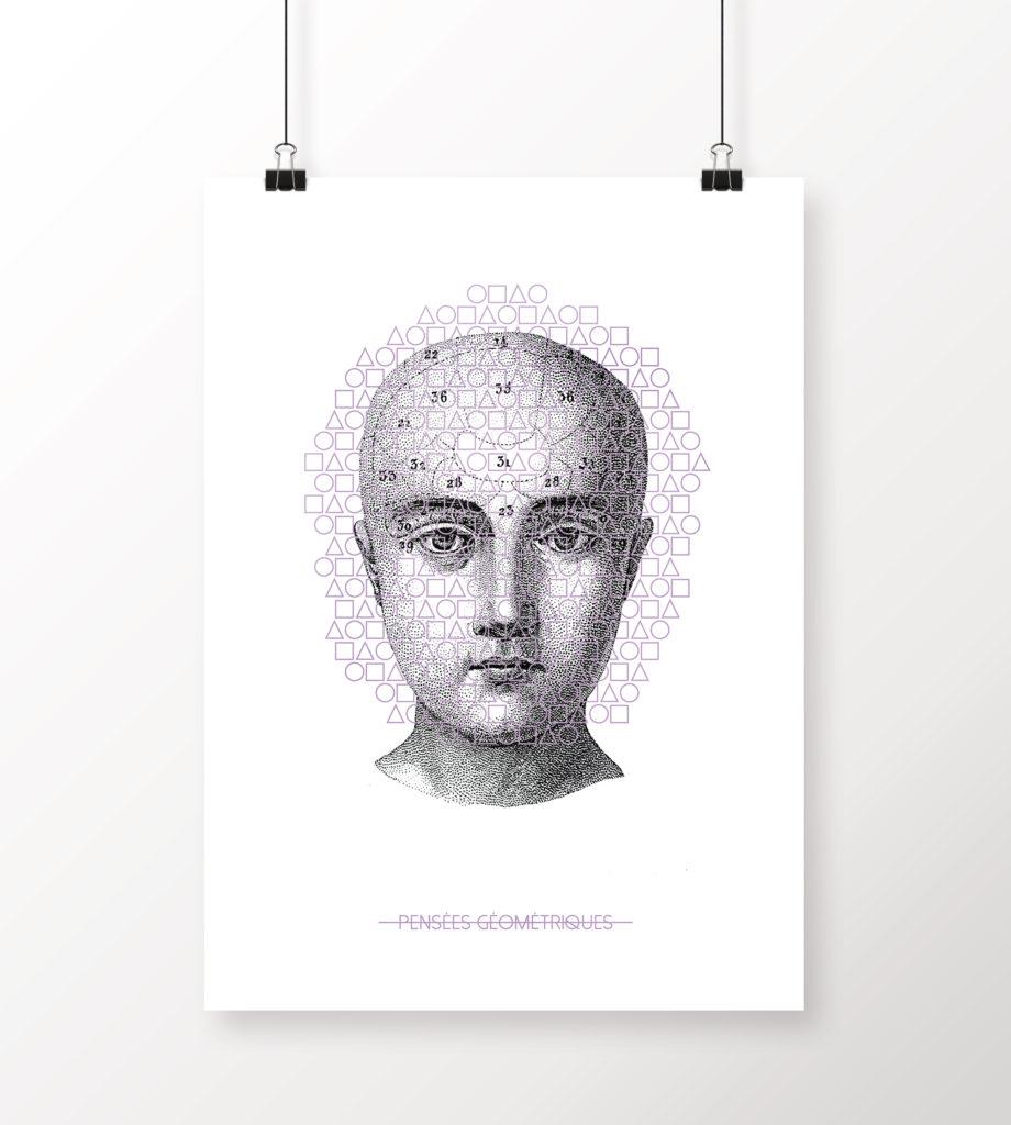 Phrénologie // Poster format A3
