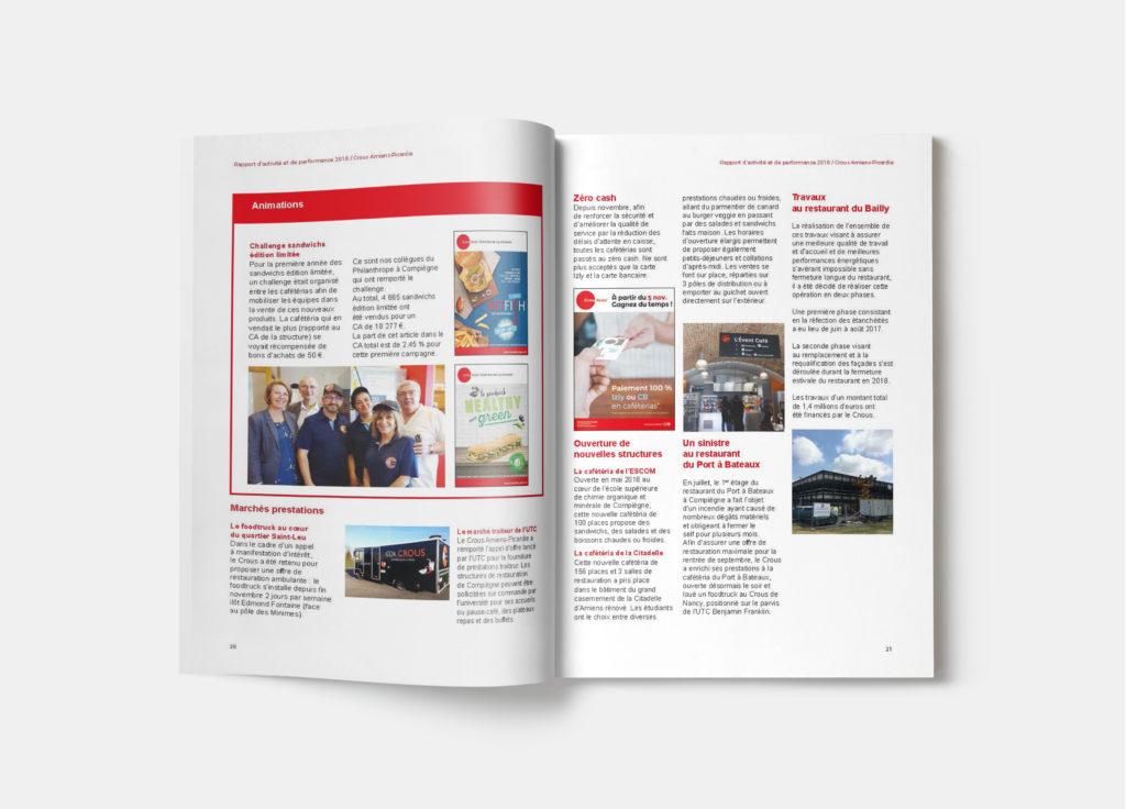Rapport d'activité pages 20 et 21